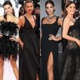 Transparência, plumas e caudas: vestidos pretos nada básicos são destaques em Cannes!