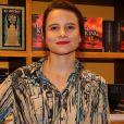 Bianca Comparato no lançamento do novo livro de Maria Ribeiro, em São Paulo, nesta quinta-feira, 10 de maio de 2018