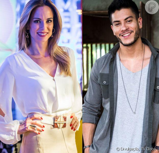 Arthur Aguiar corrigiu Ana Furtado sobre o casamento com Mayra Cardi no 'Encontro' desta sexta-feira, 11 de maio de 2018