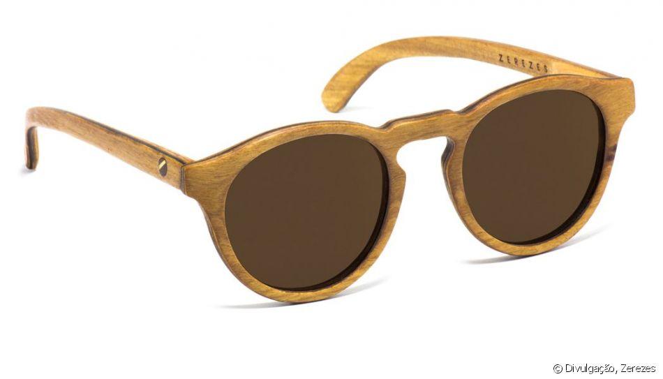 072e6de72c2a0 A matéria prima do óculos é biodegradável e pode ser reciclada. O óculos da  Zerezes custa R 450