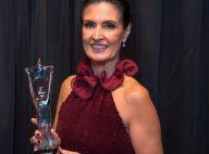 Fátima Bernardes comemora prêmio por 30 anos de carreira: 'Nunca desistam'