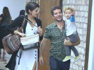 Quanta fofura! Sophie Charlotte e Daniel de Oliveira passeiam com o filho, Otto
