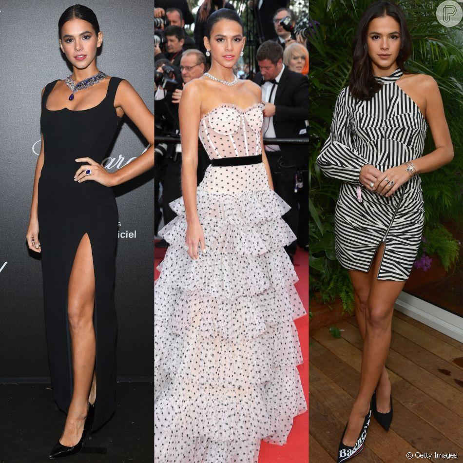 Da alta costura à produções casuais: confira os looks de Bruna Marquezine no Festival de Cannes!