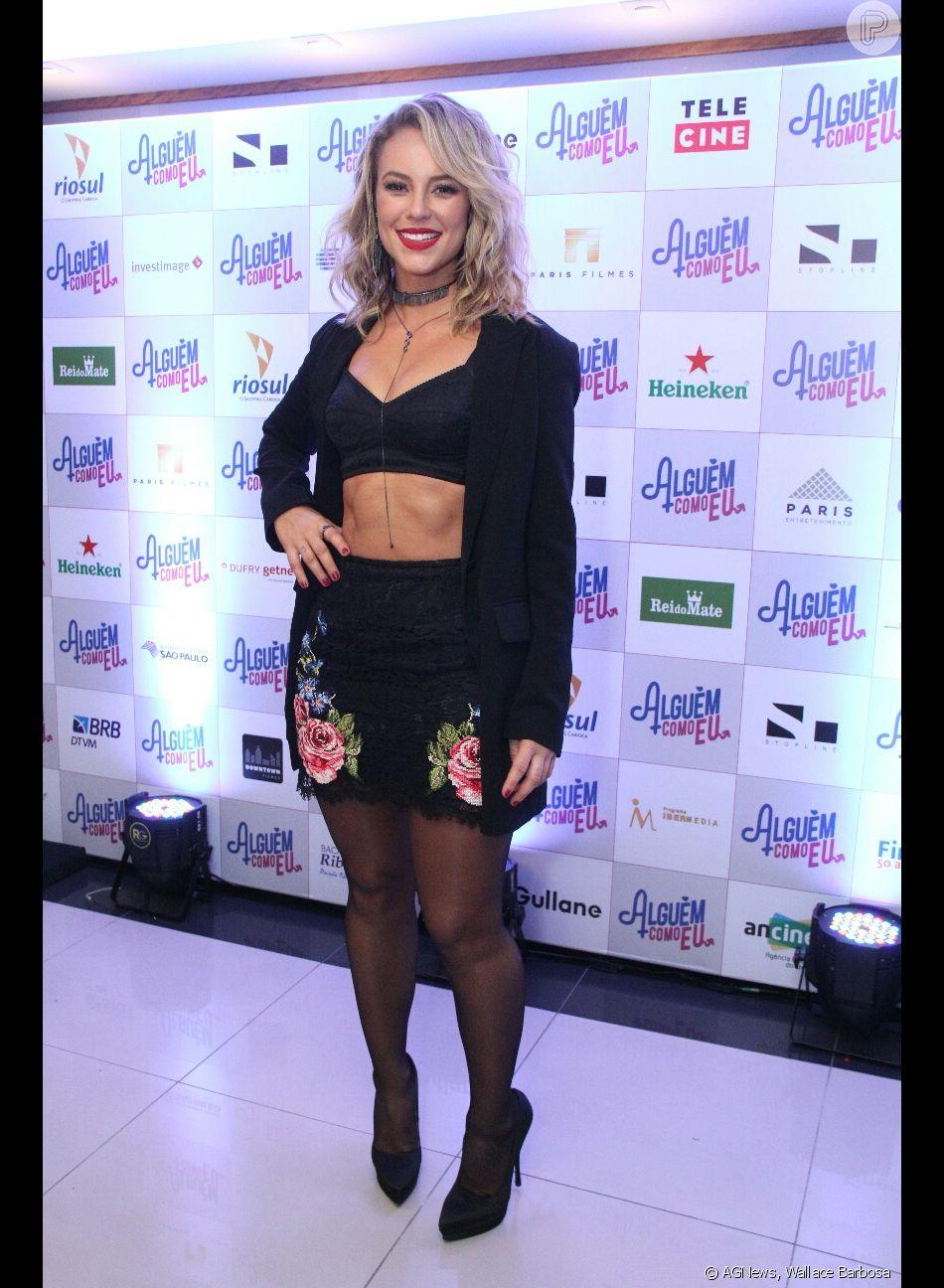 Paolla Oliveira combinou messy hair e look Gucci para o lançamento do filme  'Alguém Como Eu', no shopping Rio Sul, no Rio, nesta segunda-feira, 14 de maio de 2018