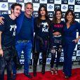 Gloria Pires e o marido, Orlando Morais, posaram com as filhas Ana e Antonia e o genro, Wagner Santisteban, no show de Cleo