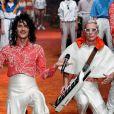 O grupo musical Client Liaison estreia sua primeira coleção de moda no Mercedes-Benz Fashion Week em Sydney, na Australia, nesta quarta-feira, 16 de maio de 2018