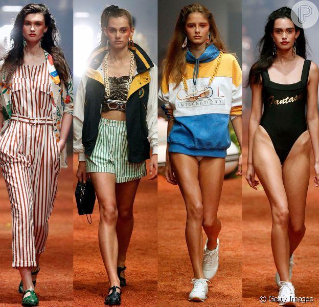 Grupo indie pop estreia em passarela da Austrália e aponta tendência anos 80/90 durante oMercedes-Benz Fashion Week, em Sidney