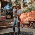 Mãe de Lucca, de 2 anos, Aline Gotschalg brincou sobre aumentar a família