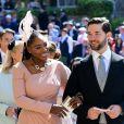 Serena Williams foi acompanhada do marido, Alexis Ohanian, no casamento do príncipe Harry com Meghan Markle