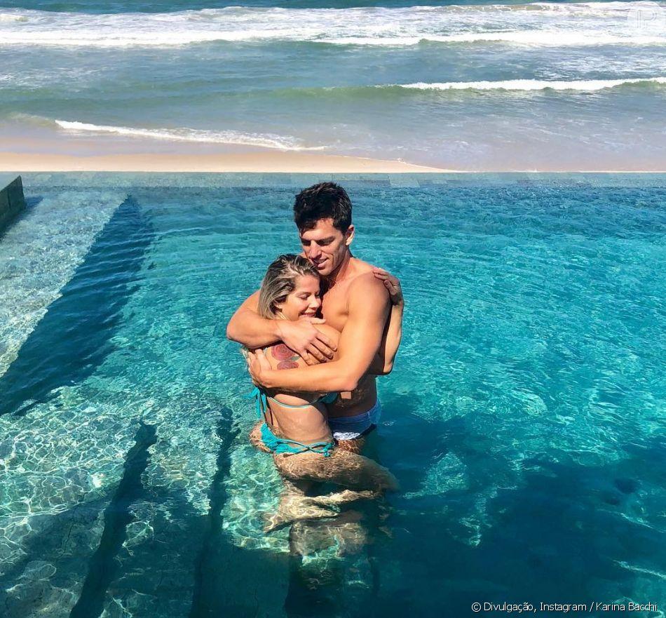 Karina Bacchi fica noiva de Amaury Nunes, em 19 de maio de 2018