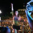 Ivete Sangalo se apresentou em um trio elétrico em Salvador no final do mês passado