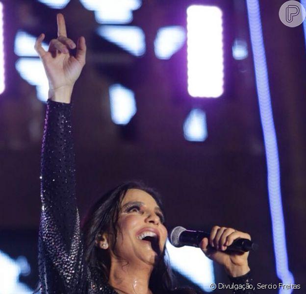 Ivete Sangalo faz primeiro show em palco após nascimento das filhas gêmeas, em 19 de maio de 2018
