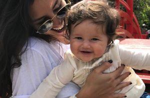 No colo de Bruno Gissoni, Madalena conhece Yolanda, filha de Juliana Alves. Foto