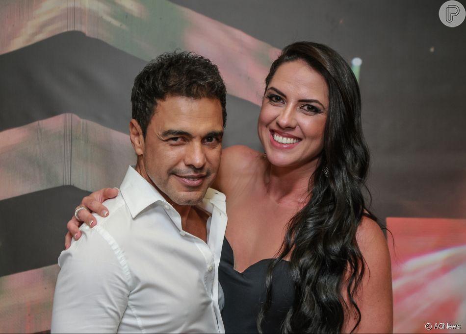 Graciele Lacerda falou sobre a rotina de treinos com o noivo, Zezé Di Camargo, em entrevista ao Purepeople