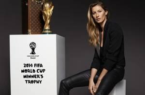 Gisele Bündchen ficará três dias no Brasil para levar a taça na final da Copa