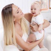 Eliana posa com a filha, Manuela, para campanha de amamentação:'Ligação de amor'