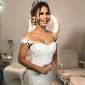Lexa se surpreende com vestido sujo após festa de casamento: 'Olha como está!'