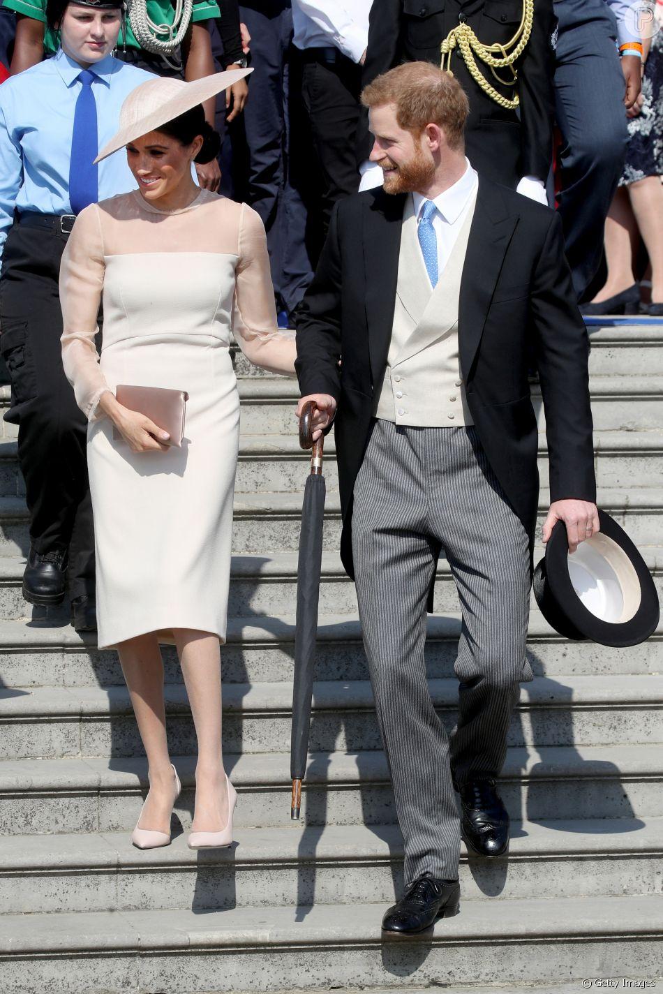 7fc0186b4b O primeiro vestido usado por Meghan Markle como duquesa de Sussex está  esgotado
