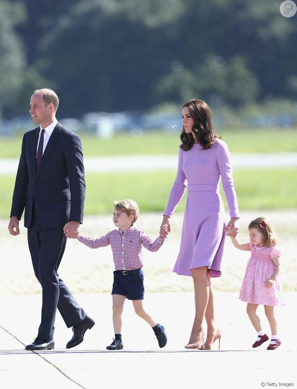 Kate Middleton, mãe de George, de 4 anos, Charlotte, de 3 anos, e Louis, de 1 mês, valoriza momentos ao ar livre em família