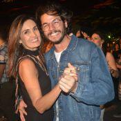 Coladinhos! Fátima Bernardes e Túlio Gadêlha dançam forró e se beijam em show