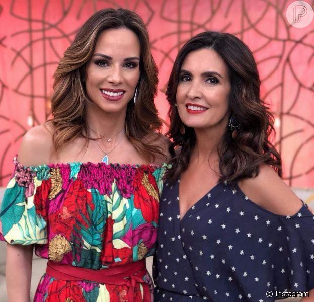Ana Furtado recebeu apoio de Fátima Bernardes após revelar a retirada de um câncer de mama em estágio inicial