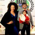 Juliana Alves esteve com a família no Festival Internacional de Cinema em Teresópolis, Rio de Janeiro