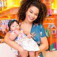 Juliana Alves readaptou a rotina após nascimento da filha, Yolanda