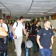 Rihanna desembarcou na tarde desta sexta-feira, 11 de julho de 2014, no Aeroporto Internacional do Rio de Janeiro
