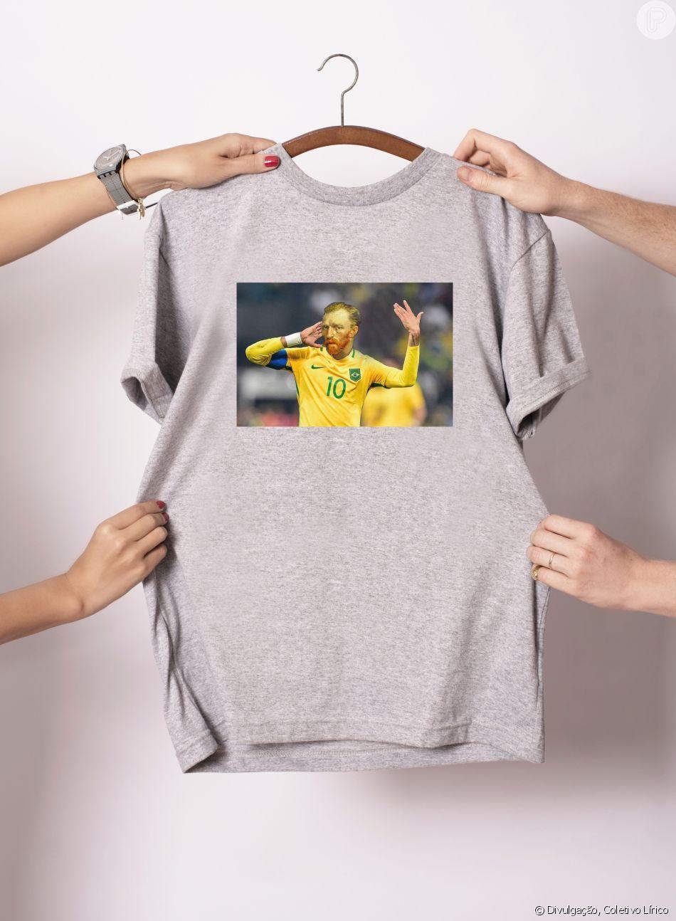 122913a40f Camisetas criativas e divertidas são a marca registrada da Coletivo Lírico.  Para os jogos da