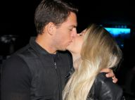 Vale-night! Karina Bacchi e o noivo, Amaury Nunes, trocam beijos em show em SP