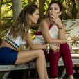 Karola (Deborah Secco) diz para Laureta (Adriana Esteves) que está arrependida de ter dito a Beto Falcão (Emílio Dantas) que ele pode ficar com Luzia (Giovanna Antonelli) na novela 'Segundo Sol'