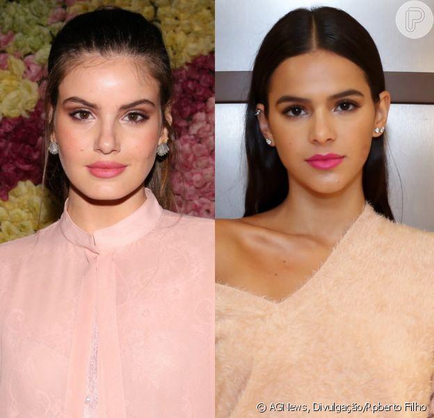 Camila Queiroz mostrou apoio a Bruna Marquezine depois de desabafo da atriz na internet