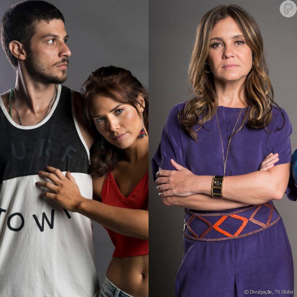 Ícaro (Chay Suede) e Rosa (Letícia Colin) são presos com Laureta (Adriana Esteves) após policia vasculhar o bordel no capítulo que vai ao ar na próxima quarta-feira, dia 6 de junho de 2018, na novela 'Segundo Sol'