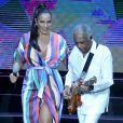 Ivete Sangalo e Gilberto Gil cantaram sucessos da música popular brasileira