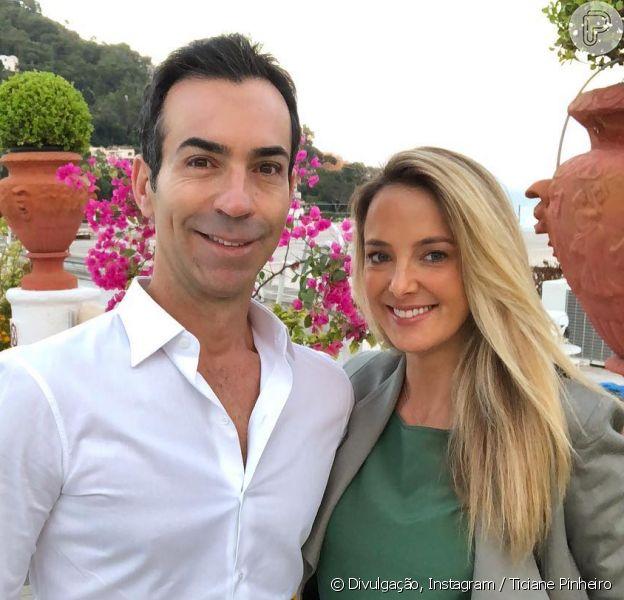 Ticiane Pinheiro e Cesar Tralli celebraram seis meses de casados na Itália