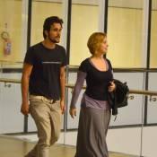 Bruno Ferrari, no ar em 'Vitória', vai a cinema com Paloma Duarte, no Rio