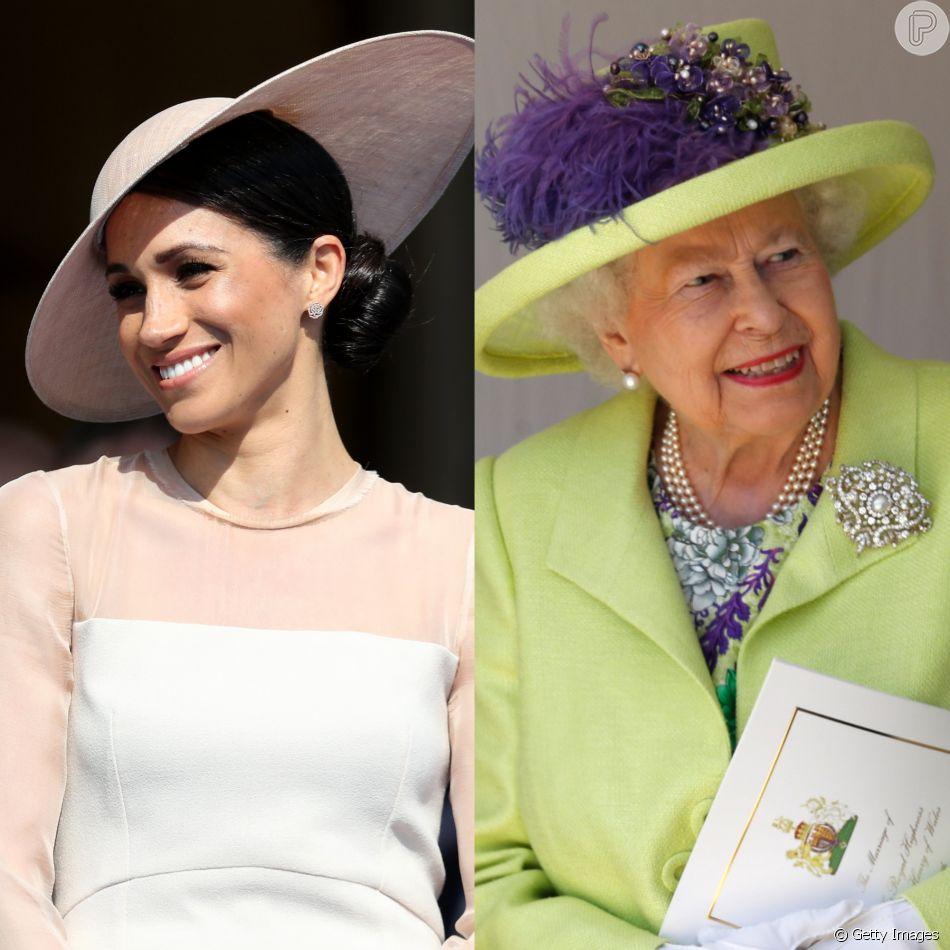 Meghan Markle ganha autorização para chamar Rainha Elizabeth por apelido, como indica revista 'Grazia' nesta quarta-feira, dia 13 de junho de 2018