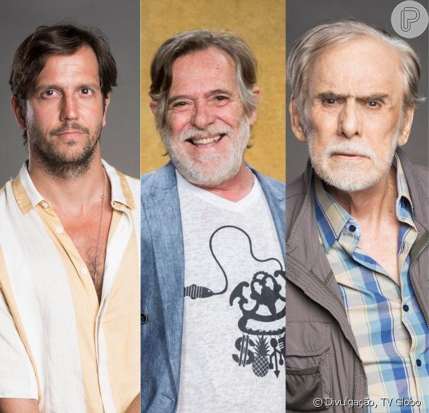 José de Abreu suspeita que Dodô, seu personagem na novela 'Segundo Sol', não é pai biológico de Remy (Vladimir Brichta): 'Filho do Nestor (Francisco Cuoco)'