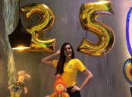 Camila Queiroz festeja vitória do Brasil ao ganhar festa surpresa de 25 anos