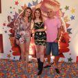 Ana Clara foi acompanhada dos pais, Ayrton e Vera, também ex-BBBs, no São João da Thay