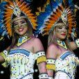 Ex-BBB Vivian Amorim e a bailarina Lorena Improta se fantasiam de índia no São João da Thay, no Maranhão, nesta quinta-feira, 28 de junho de 2018