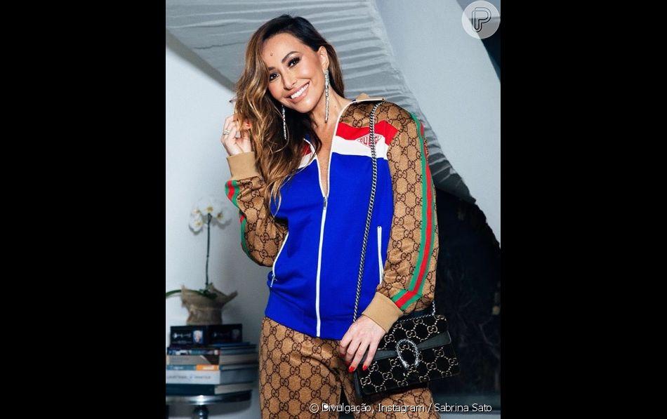 Sabrina Sato usa look Gucci de R$ 26 mil para comemorar aniversário da mulher de Fausto Silva, em 30 de junho de 2018