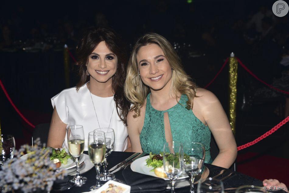 Fernanda Gentil 'puxa orelha' da namorada por post da concorrência nesta segunda-feira, dia 02 de julho de 2018