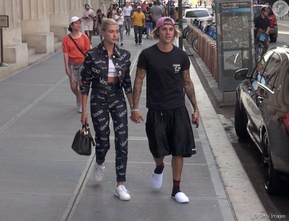 Justin Bieber se declara para a noiva, Hailey Baldwin, e confirma novo status do relacionamento nesta segunda-feira, dia 09 de julho de 2018