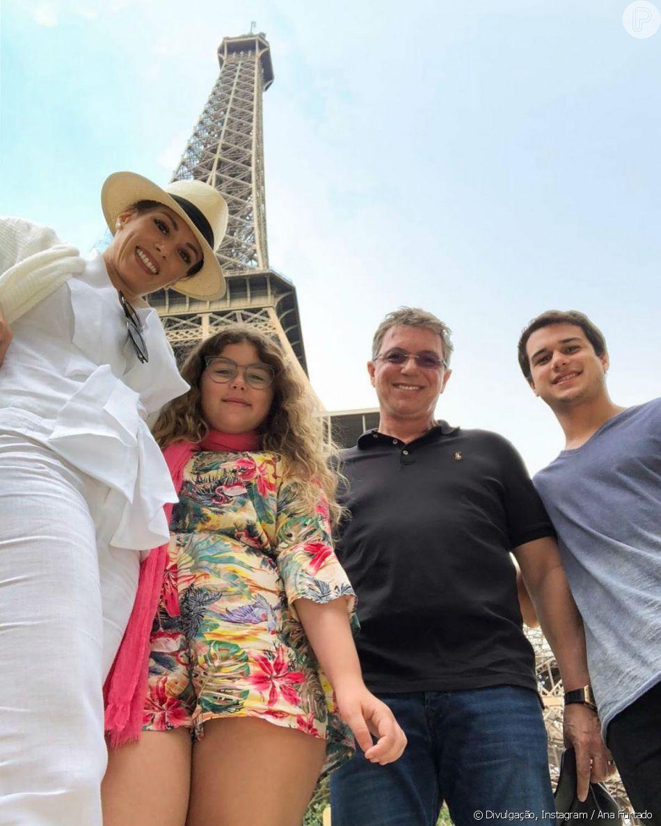 Ana Furtado está curtindo férias com a família na França e postou foto no Instagram nesta sexta-feira, 13 de julho de 2018