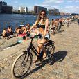 Christiane Alves aproveita férias na Dinamarca com Reynaldo Gianecchini após fim de 'Em Família'; atriz viveu a policial Manu na novela das nove