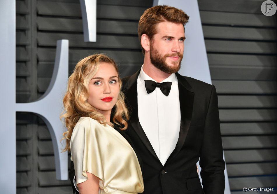 Miley Cyrus e Liam Hemsworth terminaram o noivado, oficializado em 2016