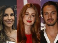Ivete posa com Marina Ruy Barbosa e Romulo Estrela nos estúdios Globo: 'Lindos'