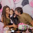 Juliana Alves e Ernani Nunes fizeram festa temática para Yolanda, de 10 meses