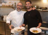 Cauã Reymond prepara jantar com chef Henrique Fogaça em evento. Veja fotos!